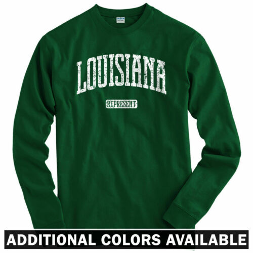 Louisiana Represent Long Sleeve T-shirt Men // Youth New Orleans NOLA LS