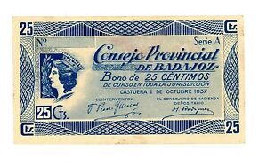SPAIN LOT 4 DIFF NOTES SPANISH CIVIL WAR NICE COLLECTION VF CONDITION