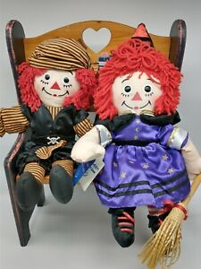 VINTAGE RAGGEDY ANN AND ANDY HALLOWEEN DRESS UP DOLLS