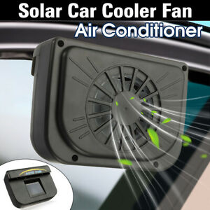 New Car Window Windshield Auto Air Vent Cool Fan System Cooler ABS Solar Powered