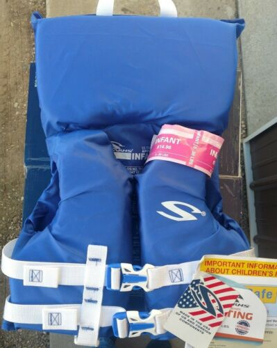 Stearns Near-Shore Buoyant Vest Type II PFD Infant 0-30 lbs Brand New 2 color