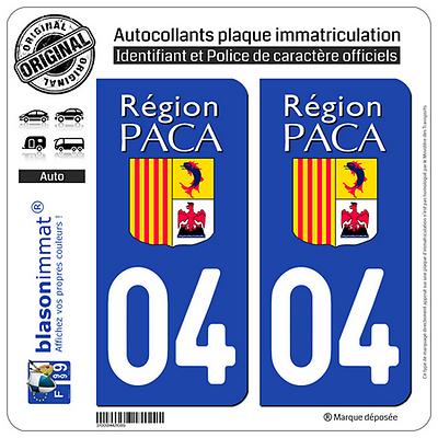 2 Stickers Autocollant Plaque Immatriculation : 04 Paca Logotype Fornire Servizi Per Le Persone; Rendere La Vita Più Facile Per La Popolazione