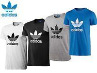 adidas Originals T-Shirt Crew Neck Trefoil Cotton Tee Top New Mens Size S M L XL