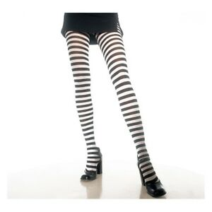 3145a3df18b9b Image is loading Opaque-Fairy-Black-amp-White-Gothic-Striped-Tights