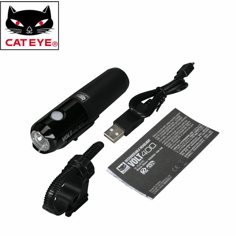 CATEYE HLEL461RC Helebar davanti Light bicicletta equitazione USB Safety Lamp LED Light