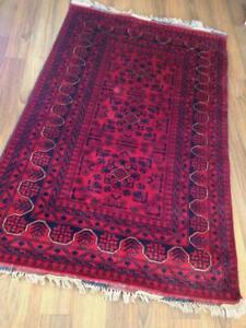 Wool Handmade Oriental Rug Red 100