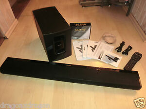 Bose-Cinemate-SR-1-Soundbar-Cable-sans-caisson-de-basses-entretenus-2j-Garantie