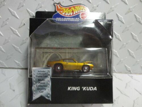 Hot Wheels Black Box Gold King Kuda w//Redline Wheels