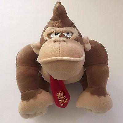 Donkey Kong Plush Toy Super Mario Nintendo 2016 Stuffed Animal 7.5 in w/ Necktie