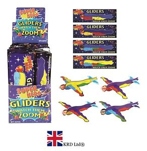 Super Hero Flying Gliders Enfants Fête D'Anniversaire Sac Favors Pinata Filler Jouet uk  </span>