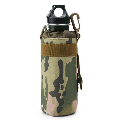 Tactical Molle Water Bottle Bag Pouch Backpack Belt Holder Hiking Biker Outdoor