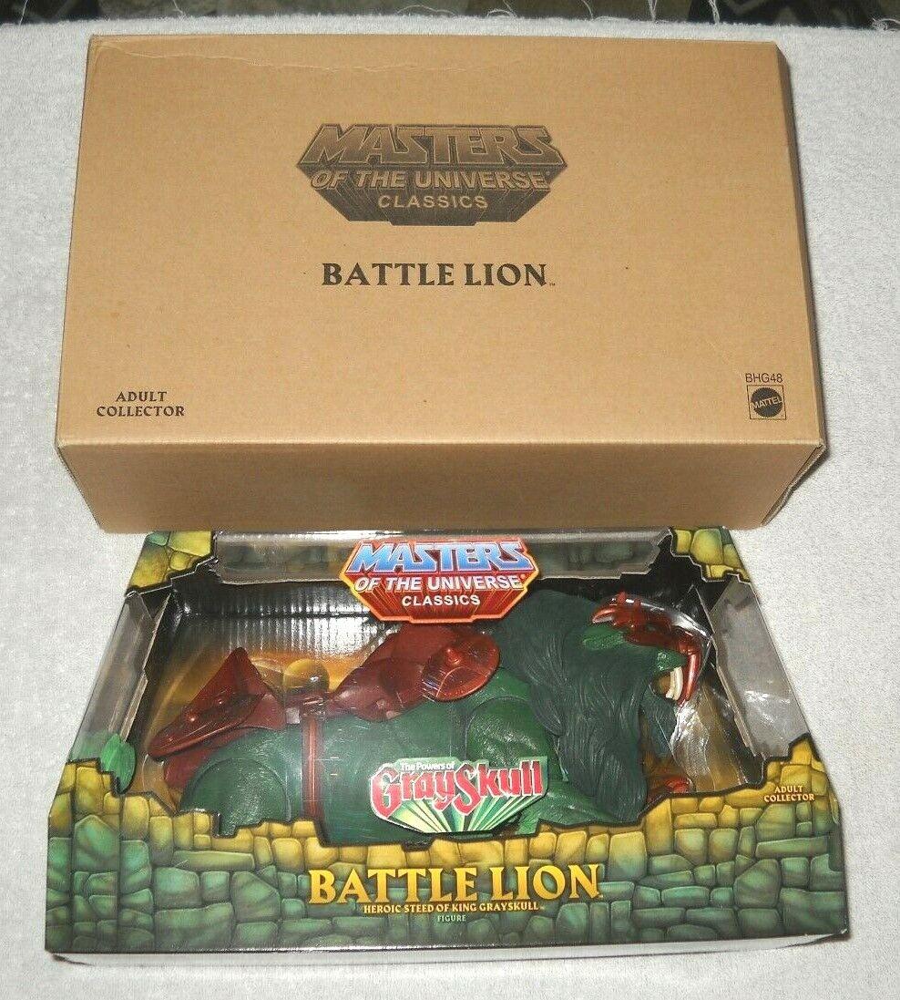 Masters del universo clásicos & Matty Collector-batalla León & Caja de envío (Menta en caja sellada) 100%