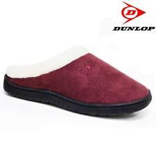 New Womens Dunlop Warm Comfort Faux Fur Winter Mules Shoes UK Size 8