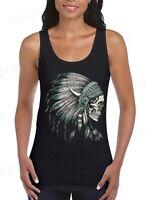 New Skull Headdress Women Tank Top Indian Skull Tank Top Native American design