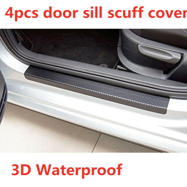 US 5D Carbon Fiber Stickers Car Accessories Door Sill Scuff Protector Decal 4pcs
