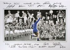 MANCHESTER UNITED LEGENDS 24 SIGNATURES. LARGE HAND Signed PRINT £99 NOW £60