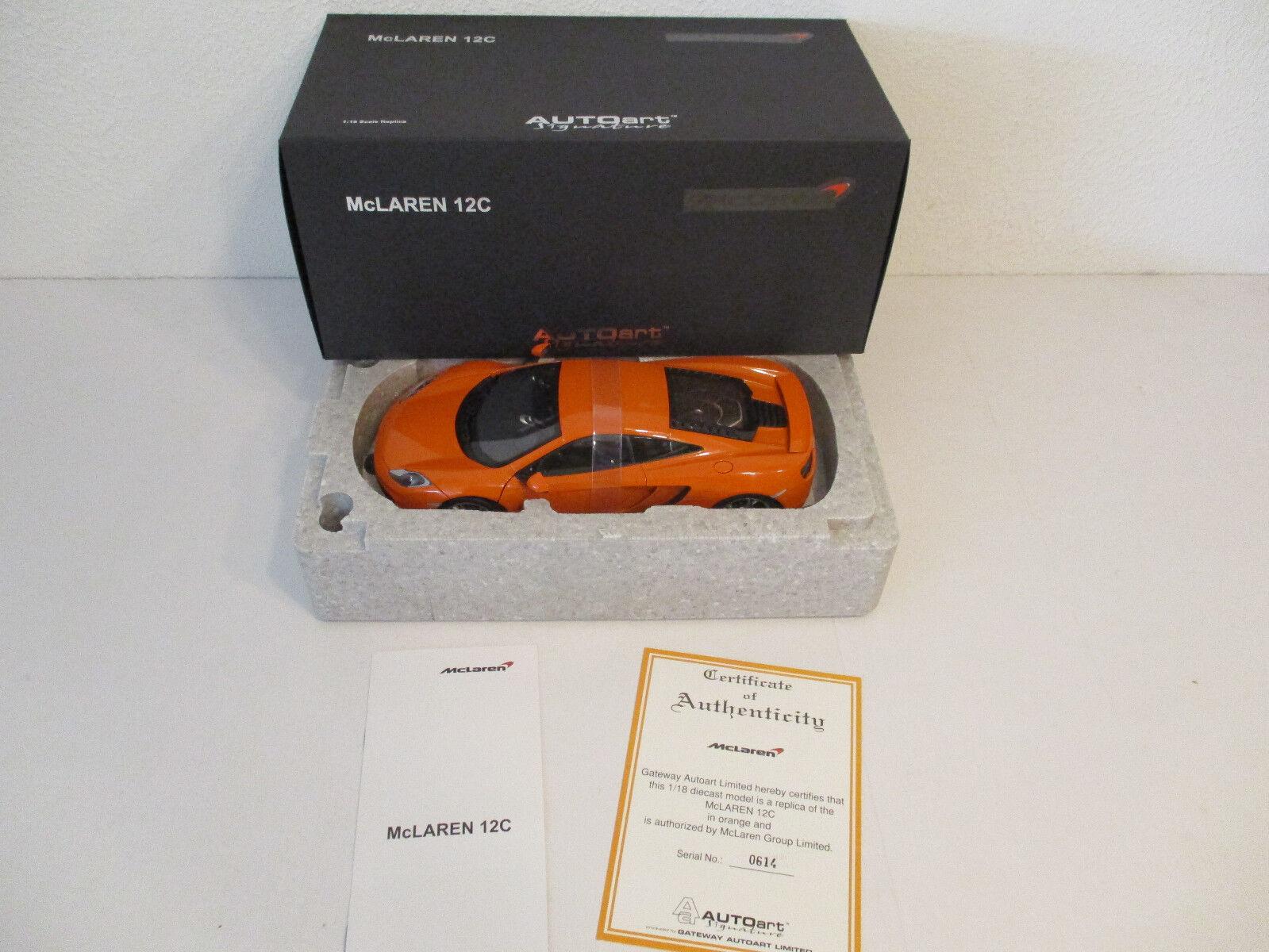 (GOK) 1 18 AUTOart McLaren 12 C Orange   614 NEU OVP