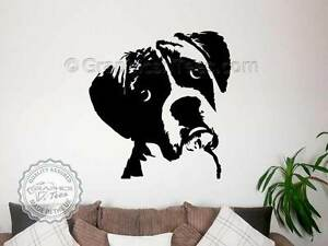 Image Is Loading Boxer Dog Sticker Dog Wall Art Home Mural