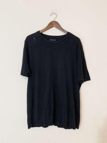 Neil Barrett T-shirt Double Collared Black Tee - S