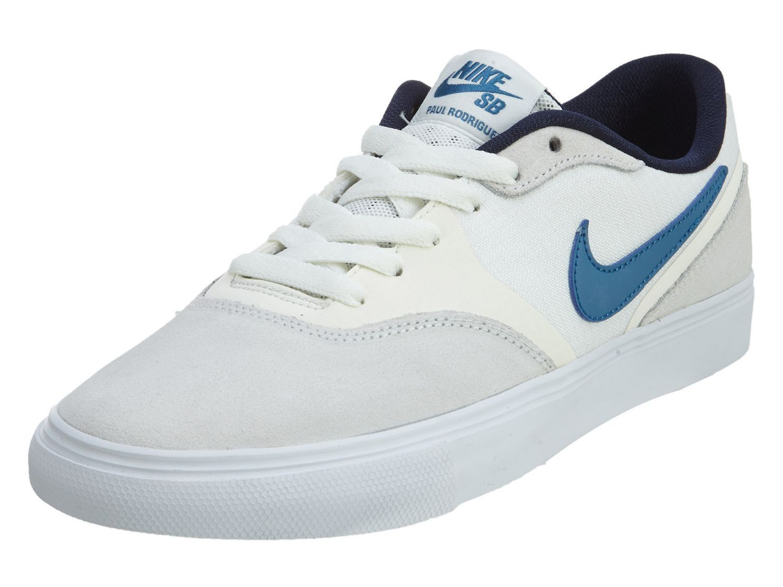 Nike sb paul rodriguez 9 rv lo skateboard uomini scarpe bianche 819844-144 sz nuova