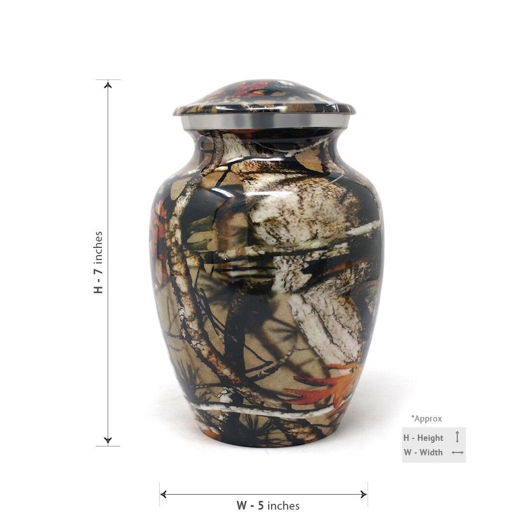 Cremation urn Medium Aluminium Camouflage Camouflage Camouflage 398819