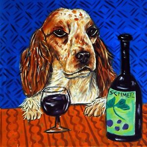 Cocker-Spaniel-at-the-wine-bar-animal-dog-art-tile-gift