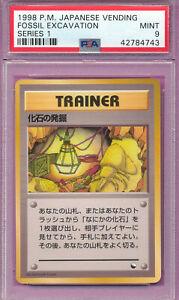 1998 Japanese Pokemon Card Weepinbell Vending Series 3 Glossy Graded PSA 9 Mint