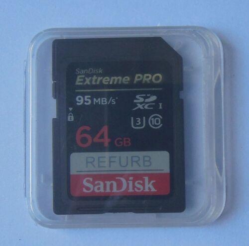 95MB//S SanDisk 64GB Extreme Pro SDXC U3 Class10 SD Card SDSDXPA-064G 4K HD VIDEO