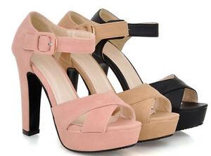 590da567112 Zapatos sandalias de mujer talón 15 cm con plataforma colores negro ...