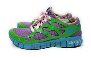 Details about Nike Free Run 2 Retro Doernbecher Womens Running Shoes Violet Green Size 7