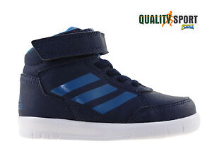 super popular 032a0 ad0be Image is loading Adidas-altasport-Mid-Blue-Baby-Sports-shoes-Sneakers-