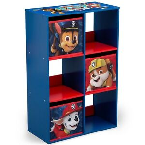 Image Is Loading PAW Patrol 6 Cubby Storage Unit For Toys