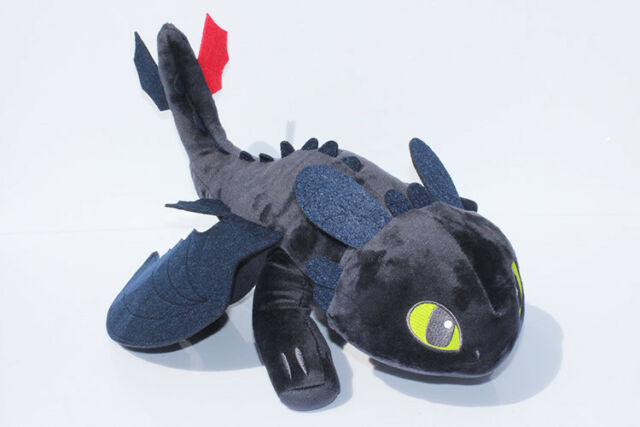 12 How To Train Your Dragon Plush Toothless Night Fury Soft Toy