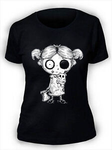 Undead-Girl-T-Shirt-Womens-Ladies-Goth-Rock-Undead-Corpse-Nightmare