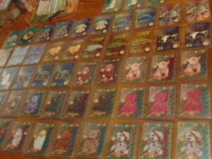 TY-Beanie-Babies-Card-Lot-1995-1999-Limited-Editions-d-Parallels-die-cuts-coins