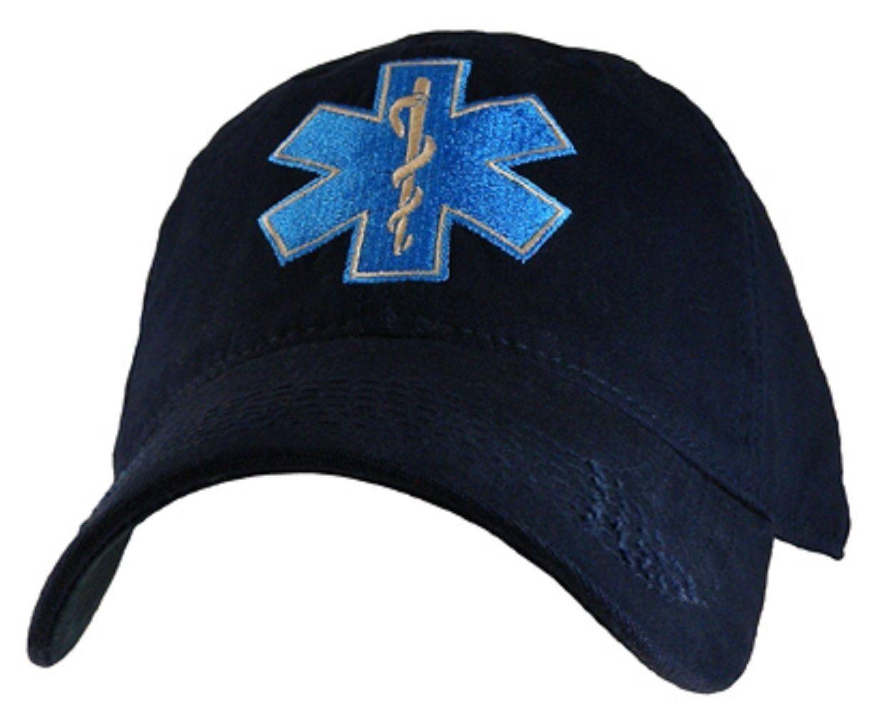 NEW EMT Emergency Medical Technician Star cap. of Life cap. Star Navy Blue. 6317. 34d408