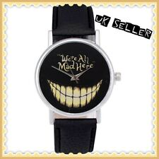 Grinning Cheshire Cat Alice In Wonderland We're All Mad Here Teeth Watch