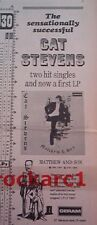 "CAT STEVENS Matthew & Son 1967  UK Poster size Press ADVERT 16x6"""