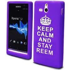 Sony Xperia U St25i De Silicona púrpura Gel mantener la calma y permanecer Reem llenador de la media