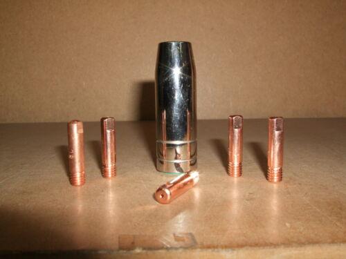 Cebora 130 Pocket Mig Gas SUDARIO UGELLO /& 5 x 0.8mm Punte Di Contatto