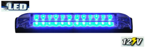 "2X BLUE 6/"" Car Boat RV 12 LED LIGHT STRIP Waterproof 12V Marine Accent Lighting"