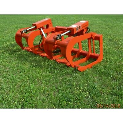 2018 MTL Attachments HD 72 Skid Steer Root Grapple Twin Cylinder-Universal fit