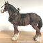 Large-Shire-Cart-Heavy-Horse-in-harness-ornament-figurine-Leonardo-gift-boxed miniatuur 7