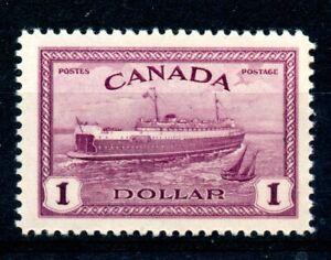 Weeda Canada 273 VF MH $1 Train Ferry 1946 Peace Issue high value CV $45