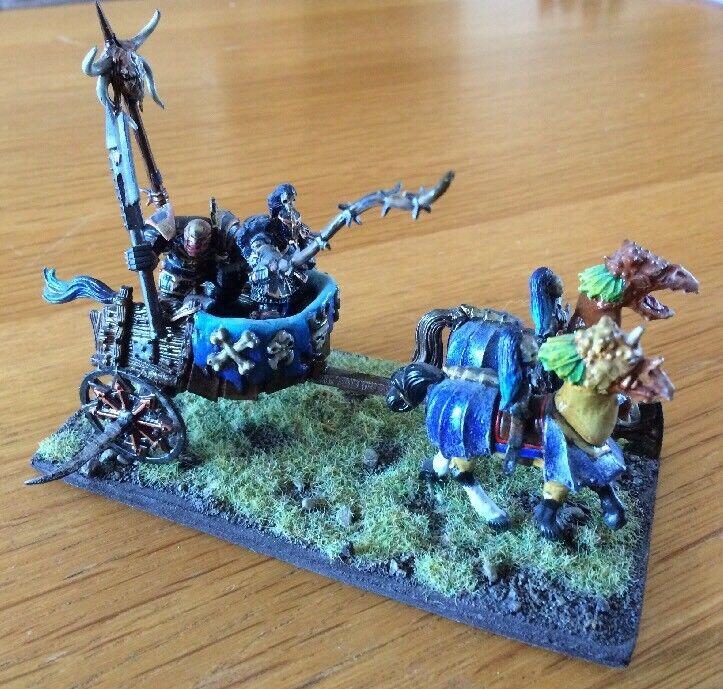 Warhammer AOS Chaos Warrior War Chariot Miniature PRO Painted RARE