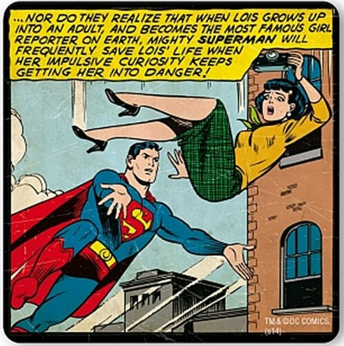 Superman Saves Lois/' Life  cork-backed drinks coaster lsh