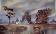Mary Serrurier watercolour landscape Sir Lowry's Pass, Cape South Africa signed