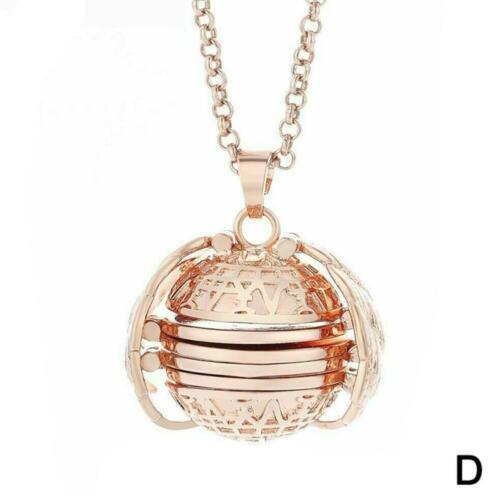 Expanding Photo Locket Necklace Silver Ball Angel Wing Pendant Memorial Loves