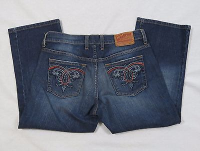 Clothing, Shoes & Accessories Earnest Lucky Brand Classic Fit Crop Denim Blue Jeans Size 6 28