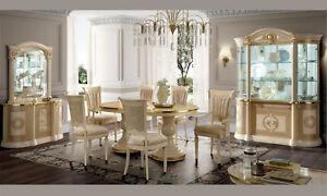 Wohnzimmer Beige Gold Hochglanz Stilmöbel Made in Italy | eBay